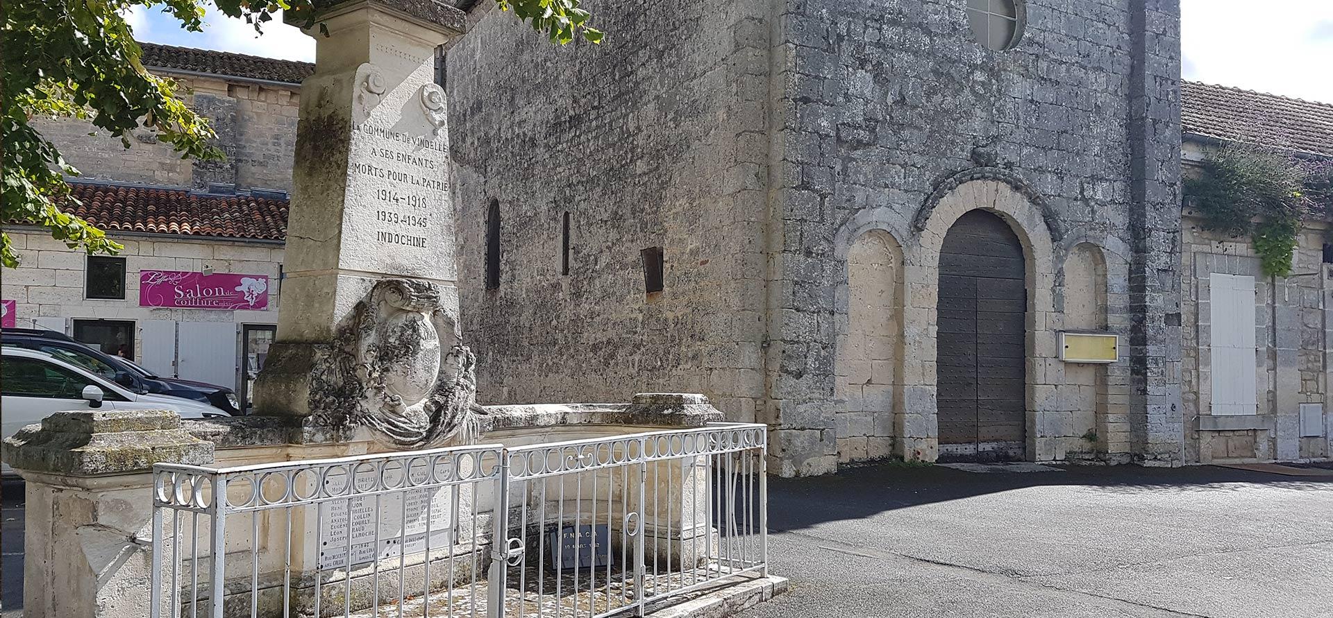 monuments aux morts Vindelle Charente